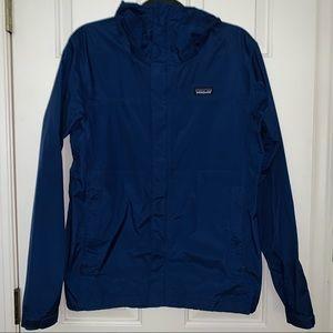 Men's Blue Patagonia Rain Coat